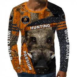 3D мъжка блуза WILD BOAR