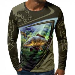3D мъжка блуза принт pesca