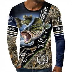 3D мъжка блуза Риба