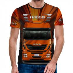 3D мъжка тениска с камион Iveco