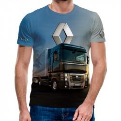 3D мъжка тениска с камион Renault