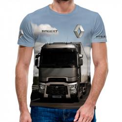 3D мъжка тениска с камион Renault gray