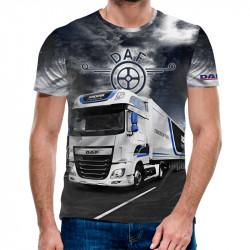 3D мъжка тениска Daf White