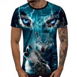 3D мъжка тениска Wolfs Blu