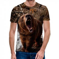 3D мъжка тениска Wild Bear