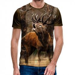 3D мъжка тениска Wild deer
