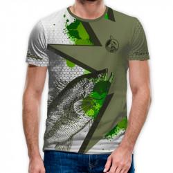 3D мъжка тениска FISHING Green