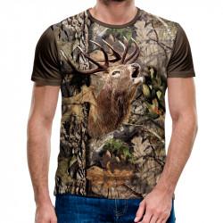 3D мъжка тениска Deer камуфлажна