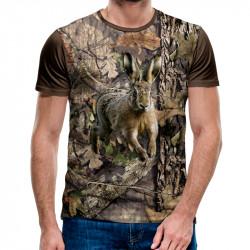 3D мъжка тениска ловджийска