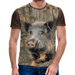 3D ловджийска тениска Wild Boar