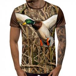 3D ловджийска тениска Wild duck