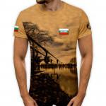 3D мъжка рибарска тениска - нощен риболов