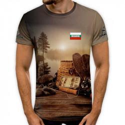 3D мъжка рибарска тениска Въдица