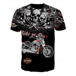3D мъжка тениска Harley Davidson