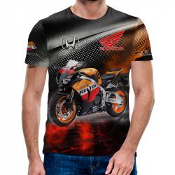 3D мъжка тениска Honda Moto sport