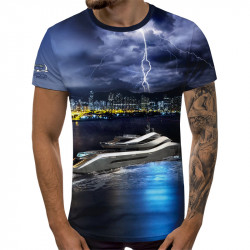 3D мъжка тениска Yacht Tunder