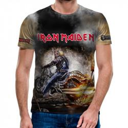3D мъжка тениска Iron Maiden Harley