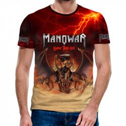 3D мъжка тениска Manowar