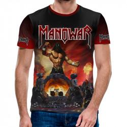 3D мъжка тениска Manowar Hell