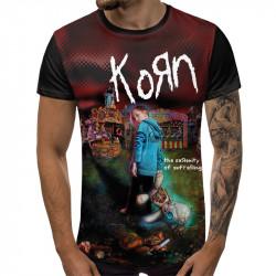 3D мъжка тениска KoRn Metallica