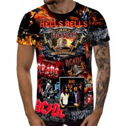 3D мъжка тениска AC/DC