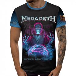 3D мъжка тениска MEGADETH METALLICA