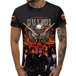 3D мъжка тениска Guns N' Roses