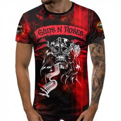 3D мъжка тениска Guns N' Roses Metallica