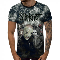 3D мъжка тениска SlipKnoT All Time