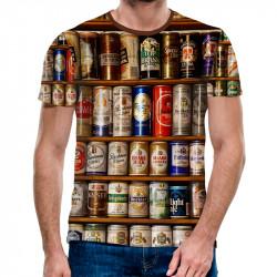 3D мъжка тениска бирени кутийки