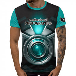 3D мъжка тениска Profesional Photographer