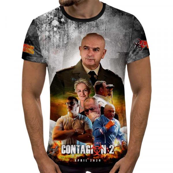3D мъжка тениска принт ЗАРАЗА