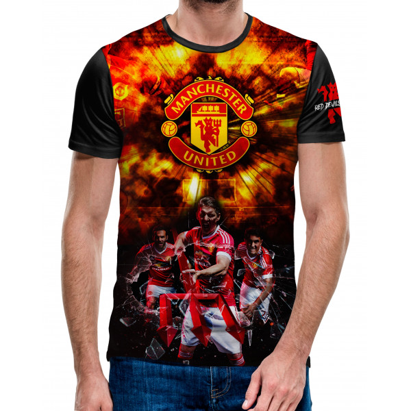 3D мъжка тениска Manchester Utd