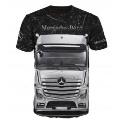 3D мъжка тениска Mercedes truck