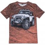 3D мъжка тениска Jeep in desert