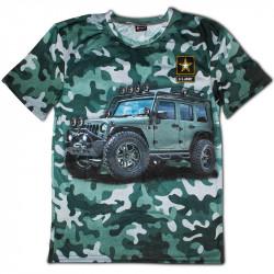3D мъжка тениска Jeep green camouflage