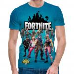 3D мъжка тениска Fortnite Blue