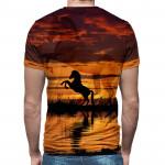 3D  мъжка тениска Horse