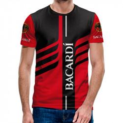 3D мъжка тениска Bacardi red