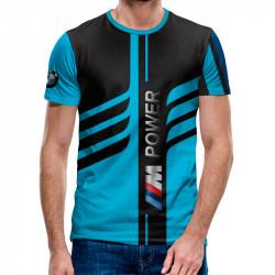 3D мъжка тениска M power blue