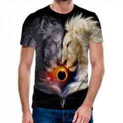 3D мъжка тениска Lions Love