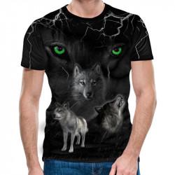 3D мъжка тениска Wolfs