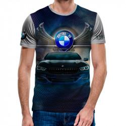 3D мъжка тениска BMW wings