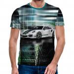 3D мъжка тениска 4953 + подарък надпис