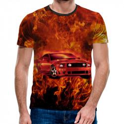 3D мъжка тениска 4960 + подарък надпис
