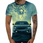 3D мъжка тениска 5247 + подарък надпис