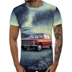 3D мъжка тениска 5293 + подарък надпис