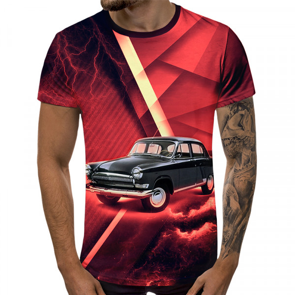 3D мъжка тениска 5355 + подарък надпис