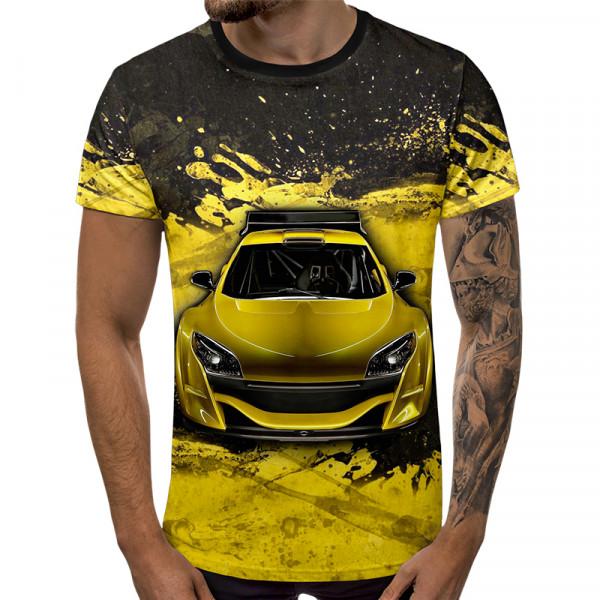 3D мъжка тениска 5449 + подарък надпис
