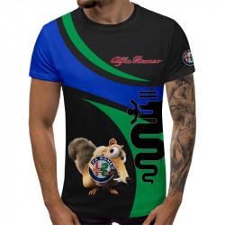 3D мъжка тениска ALFA ROMEO VERDE